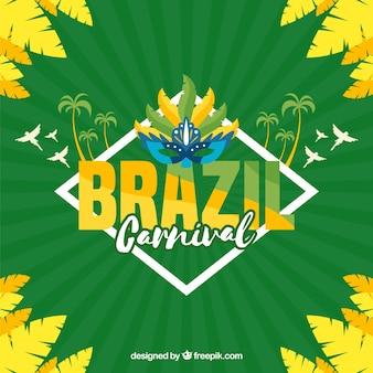 Плоский бразильский карнавальный фон