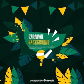Плоский бразильский карнавал фон