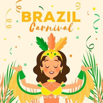 Flat brazilian carnival background