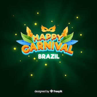 Flat brazilian carnival background