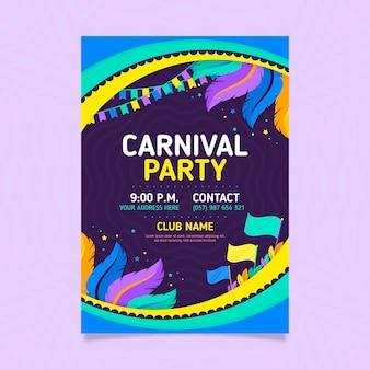 Flat brazilian carnival flyer