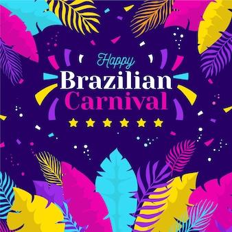 Illustrazione di carnevale brasiliano piatto