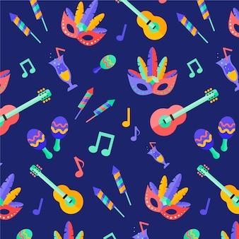Flat brazilian carnival pattern