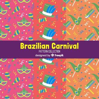 Flat brazilian carnival patterns