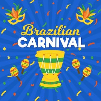 Flat brazilian carnival