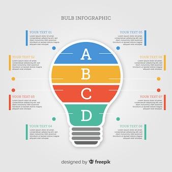 Flat bulb infographic