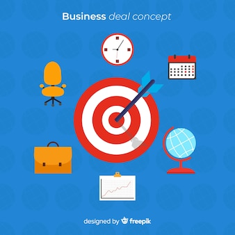 Flat bullseye business background