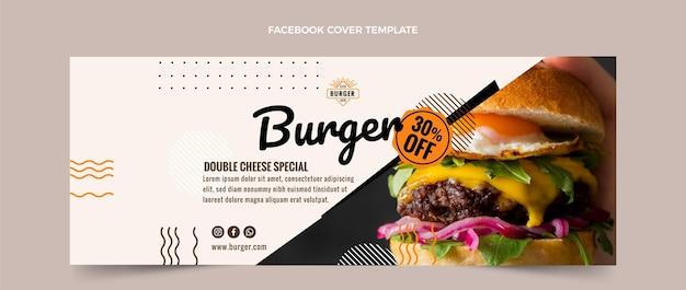 Copertina facebook con hamburger piatto