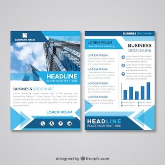 Плоская бизнес-брошюра размером a5