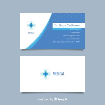 Flat business card for hospital or doctor