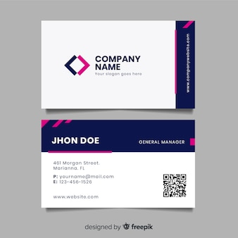 Flat business card template