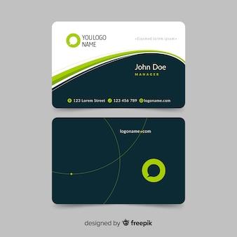 Flat business card template