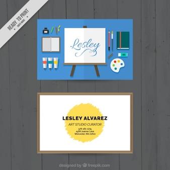 Flat business cards, art studio