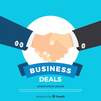 Flat business deal concept