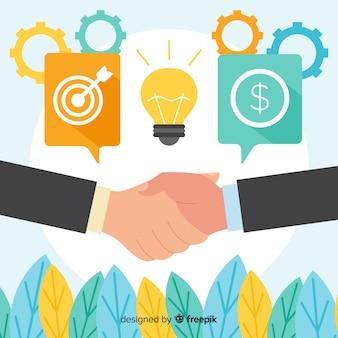 Flat business deal concept