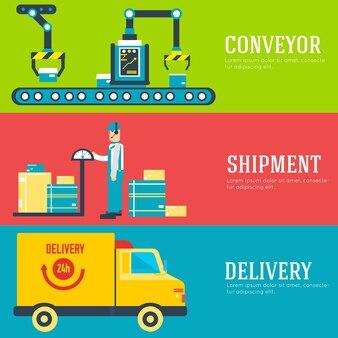 Flat business delivery service illustration design concept