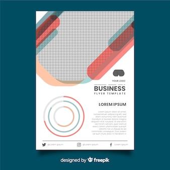 Flat business flyer template