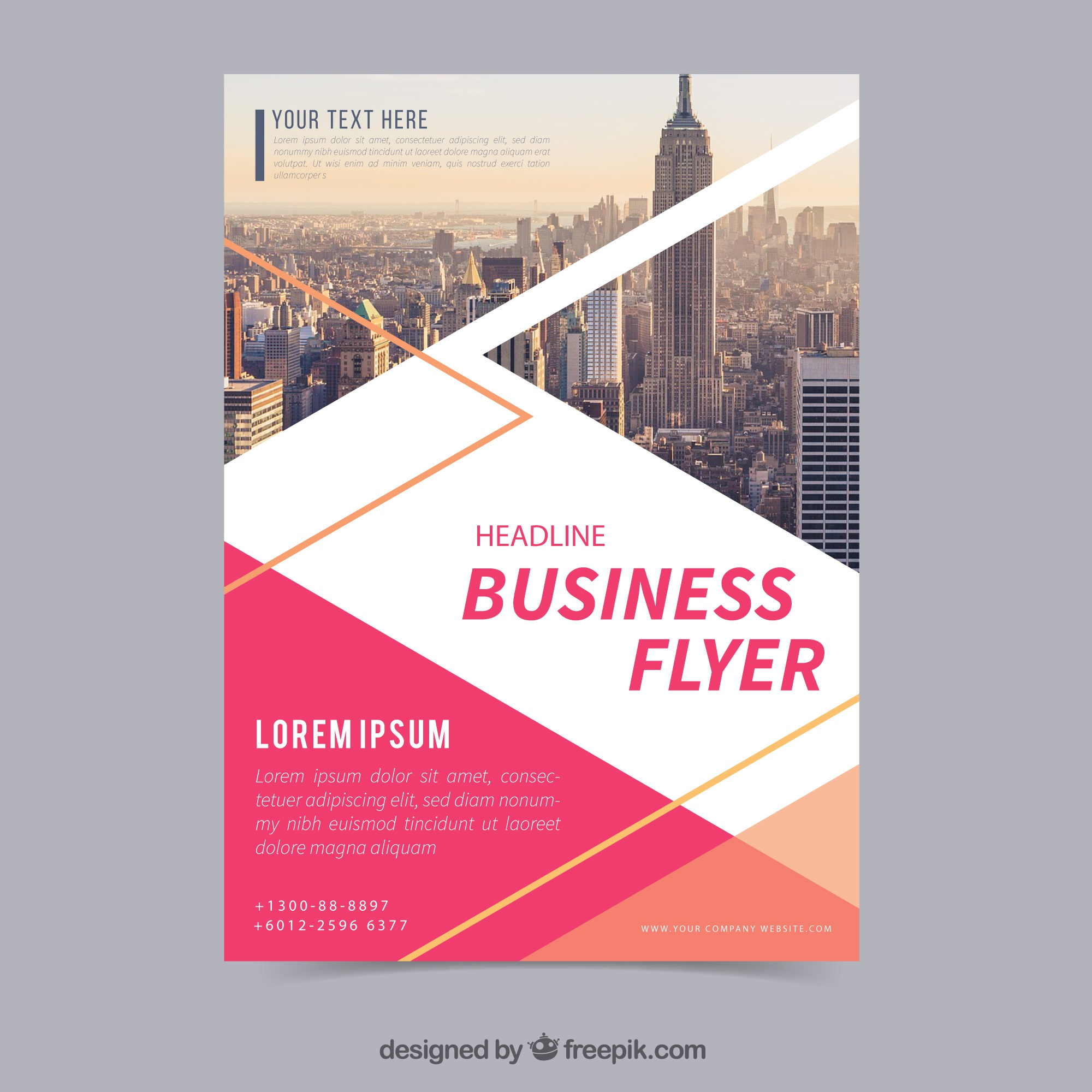 Flat business flyer