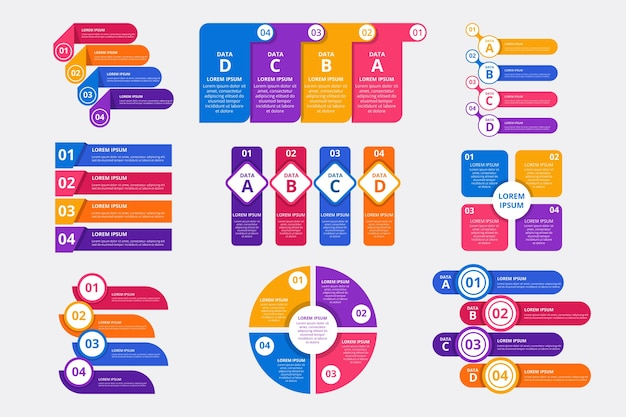 Flat business infographic elements