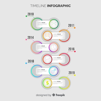 Flat business infographic timeline template