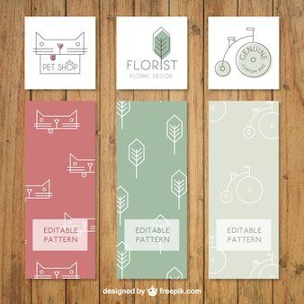 Flat business logo collection
