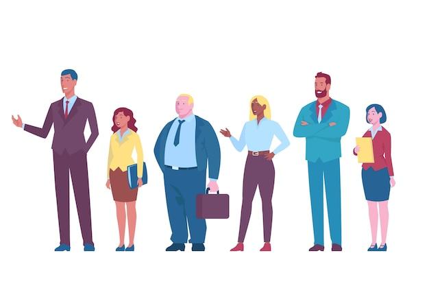 Коллекция плоских деловых людей