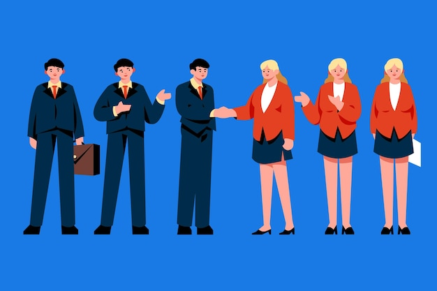 Flat business people collection Free Vector