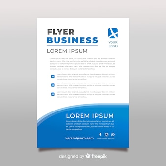 Flat business poster