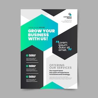 Flat business vertical flyer template