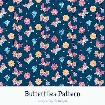 Flat butterflies pattern