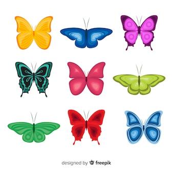 Confezione di farfalle piatte
