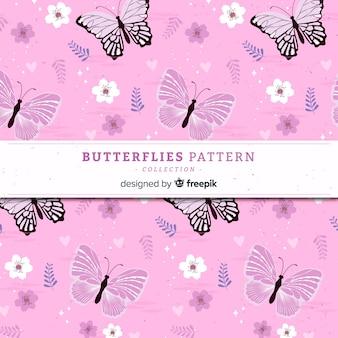 Flat butterfly pattern