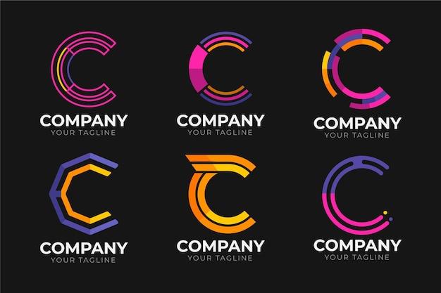 플랫 c 로고 컬렉션