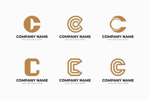 Flat c logo template pack