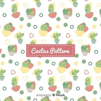 Flat cactus pattern