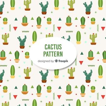 플랫 선인장 패턴