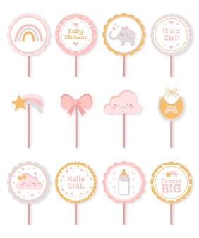 Flat cake topper collection