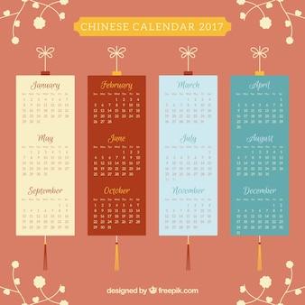 Calendario piatto per il capodanno cinese