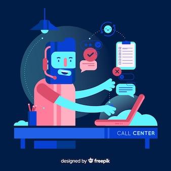 Flat call center agent concept