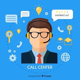 Flat call center agent design