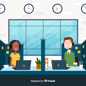 Flat call center agent design