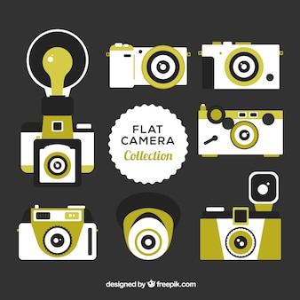 Flat camera collection