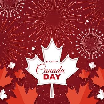 フラットカナダの日のイラスト