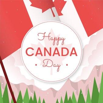 평면 캐나다 하루 그림