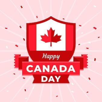 Плоская иллюстрация дня канады