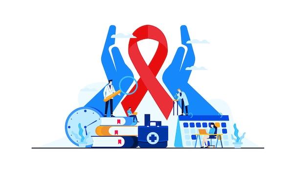 フラットがん疾患、医療がん研究デザインのイラスト