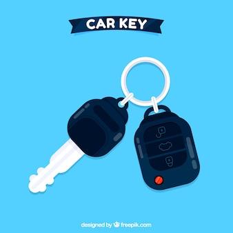 Sfondo chiave auto piatta Vettore gratuito