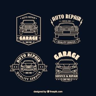 Flat car logos collection Premium Vector