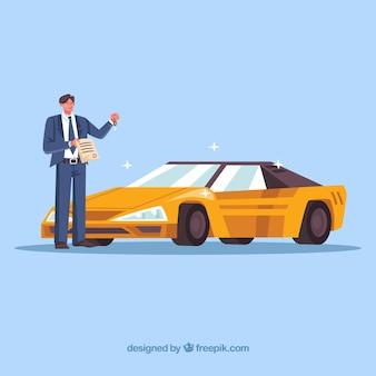 Специалист по продаже легковых автомобилей с контрактным документом