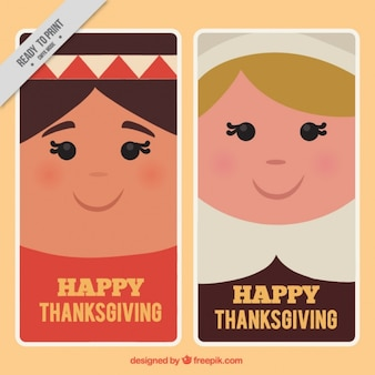 Flat cards for thanksgiving